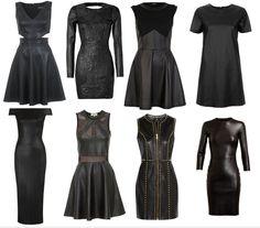 Get The Look - Celebrity Trend : Little Black Leather Dress