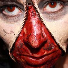 Reißverschluss-Gesicht - Komplett-Set
