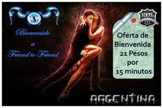 Promoción de Bienvenida Friend to Friend Argentina