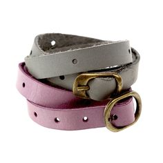 Other – Leather Bracelet Plum – a unique product by CADOaccessories on DaWanda