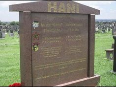 Chris Hani (1942 - 1993) South African Communist Party leader,this was the grave of Chris Hani.