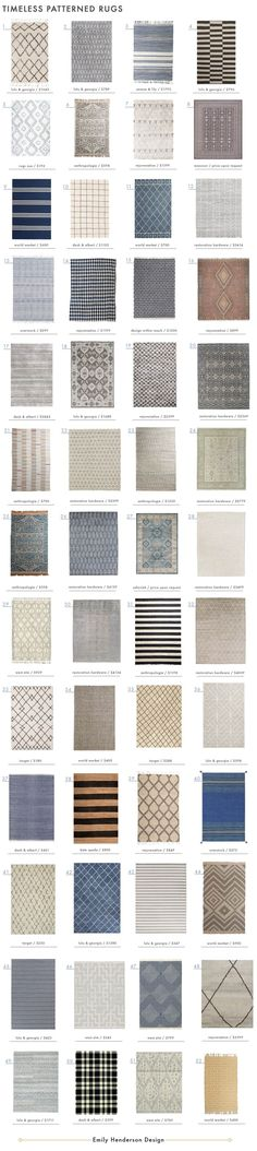52 Timeless Patterned Rugs - Emily Henderson                                                                                                                                                                                 More
