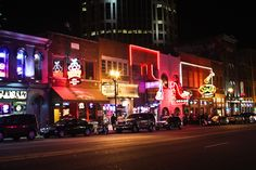 You absolutely cannot visit Nashville without experiencing the honky tonks on Broadway and Second Ave. Get ready for fun filled night of yee hawing and two-stepping! Vacation Places, Dream Vacations, Vacation Spots, Places To Travel, Places To See, Vacation Ideas, Nashville Downtown, Visit Nashville, Nashville Tennessee