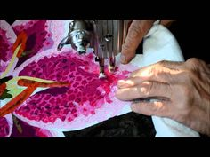 The Making of an Art Quilt-Video 6 in a series: Thread Painting Free Motion Embroidery, Free Motion Quilting, Embroidery Thread, Thread Painting, Thread Art, Quilting Tutorials, Quilting Designs, Art Quilting, Quilt Art