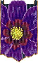 Cosmos Bead Pattern.   Graph provided in color code mode with suggested colors, and suggested method of making this piece, thumbnail. 13 colors  Project Type: Bead Stitch: Peyote Beads Used: Deicas