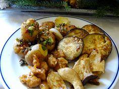 Gebratenes Allerlei mit scharfen Minikartoffeln Chicken, Meat, Food, Vegane Rezepte, Essen, Meals, Yemek, Eten, Cubs