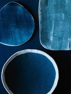 Wow. Amazing textures - blue hues - deep blue - interior design.