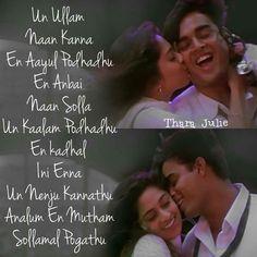 Tamil Songs Lyrics, Love Songs Lyrics, Cool Lyrics, Song Lyric Quotes, Music Lyrics, Movie Quotes, Movie Songs, Fantastic Quotes, Cute Love Quotes