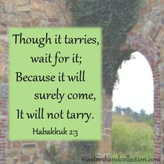 Waiting on God and His plan can seem like an impossible task. But this Bible verse about waiting on God gives us the promise we need to keep moving forward. Whatever God has for you, it will come. Bible Verses For Hard Times, Bible Verses About Faith, Scripture Quotes, Scriptures, Inspiring Quotes About Life, Inspirational Quotes, Habakkuk 2, Christian Women Blogs, My Confession