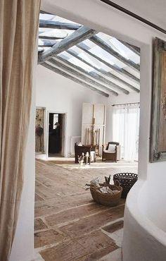 * une terrasse sur le toit *