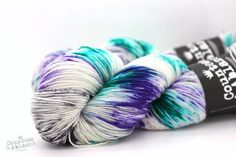 Bluefaced Leciester and nylon hand dyed sock yarn. Durable and hardwearing British yarn from Countess Ablaze in saturated colours.