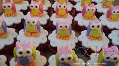 mini cupcakes decorados - tema corujinha