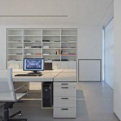 ultra modern white design atelier in Milan Italy