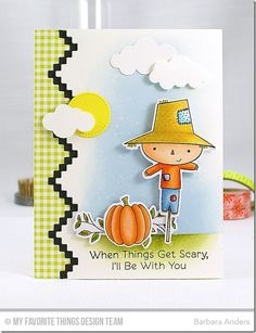 Fall Friends Stamp Set and Die-namics, Bold Blooms Stamp Set and Die-namics, Stepped Up Chevron Die-namics, Puffy Clouds Die-namics, Blueprints 21 Die-namics - Barbara Anders  #mftstamps