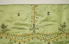 Skirt (embroidery detail) Date: 18th century Culture: French Medium: silk, metal thread Accession Number: 20.56.41