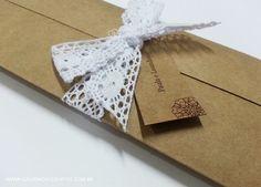 Convite casamento papel kraft | Galeria de Convites