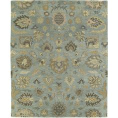 Christopher Kashan Hand-tufted Light Blue Rug (8' x 10') - Overstock™ Shopping - Great Deals on 7x9 - 10x14 Rugs 8 x 10 $659.00