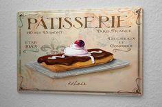 Plaque Émaillée Décor De Cuisine gâteau au chocolat Paroi Métallique Signes 20X30 cm: Amazon.fr: Cuisine & Maison