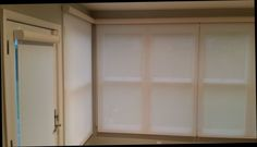 Window shades on large side windows with matching shades on the door. Get more info about our line of shades, call 419-381-2700