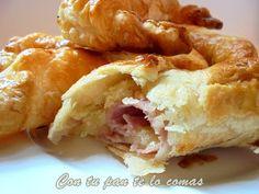 Con tu pan te lo comas: CROISSANTS RELLENOS DE JAMÓN Y QUESO