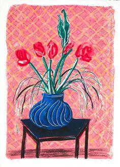 'Amaryllis in Vase', David Hockney   Tate