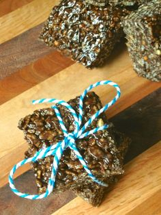 Chocolate Peanut Butter Puffed Rice Treats - The Lemon Bowl