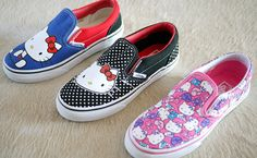 hello kitty vans slip-on sneakers Sanrio Hello Kitty, Vans Hello Kitty, Hello Kitty Items, Here Kitty Kitty, Sock Shoes, Cute Shoes, Me Too Shoes, Shoe Boots, Versace