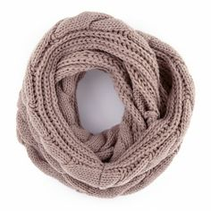 Cable Knit Infinity Scarf//