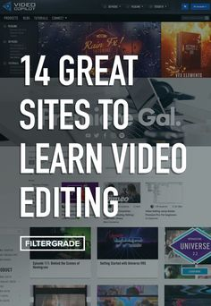 14 Great Sites to Learn Video Editing – FilterGrade