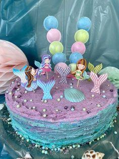 Mein neuer Plan fürs Leben: Ich tauche ab und werde Meerjungfrau! Passend dazu überraschte ich meine Nichte zu Ihrem 5. Geburtstag mit einer spektakulären #MeerjungfrauenTorte. Biskuit trifft auf Buttercreme. Backen für Kinder macht glücklich. #memaidcake #annibackt #geburtstagstorte Cakepops, Cupcakes, Mermaid, Birthday Cake, Desserts, Kids, Food, Children Cake, Birthday Cake Toppers