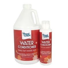 Airmax 200280 Water Conditioner, 8 oz by Pond Logic. $12.98. Removes chlorine. Pond Logic® Water Conditioner makes tap water safe by removing chlorine and detoxifying heavy metals. Great for treating new ponds or for use after performing water changes. 1 ounce treats 500 gallons.