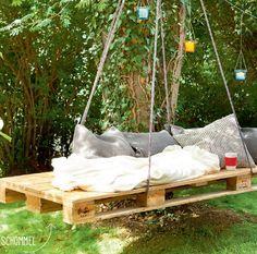 DIY. Zo maak je een hippe tuinbank met palletten - Het Nieuwsblad: http://www.nieuwsblad.be/cnt/dmf20150611_01726041