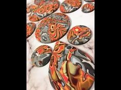 Polymer Clay Faux Crazy Lace Agate Double Mokume Gane - YouTube