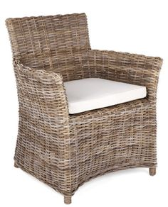 Rattan Armchair with Cushion – Allissias Attic & Vintage French Style