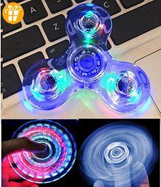 NiceTime Tri-Spinner Clear LED Fidget Spinner Spielzeug, High Speed Hand Spinner ADHS Angst für Kinder & Erwachsene (blau) - Fidget spinner (*Partner-Link)