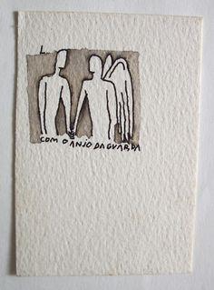 Com o anjo da guarda, JOSÉ LEONILSON, Coleção MAM - Museu de Arte Moderna de São Paulo
