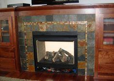 Slate Fireplace Surround and Its Negative Sides : Slate Tiles For Fireplace Surround. Slate tiles for fireplace surround. Mosaic Tile Fireplace, Victorian Fireplace Tiles, Craftsman Fireplace, Shiplap Fireplace, Limestone Fireplace, Small Fireplace, Fireplace Hearth, Fireplace Remodel, Fireplace Design
