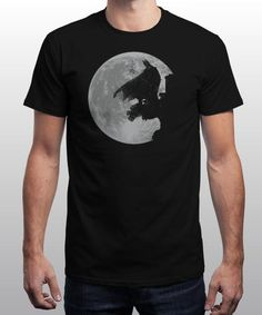 """""""The Dark Guardian"""" is today's £8/€10/$12 tee for 24 hours only on www.Qwertee.com Pin this for a chance to win a FREE TEE this weekend. Follow us on pinterest.com/qwertee for a second! Thanks:)"""