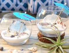 Beach Wedding Tea Light Centerpiece | Click Pic for 26 DIY Wedding Centerpieces on a Budget | DIY Wedding Decorations for Outside