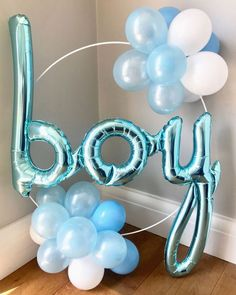 Our new baby shower balloon hoops! Place on the cake table, next . - Baby Products , It's a boy! Our new baby shower balloon hoops! Place on the cake table, next . Our new baby shower balloon hoops! Place on the cake tabl. Baby Shower Brunch, Baby Shower Azul, Fotos Baby Shower, Shower Bebe, Baby Shower Photos, Baby Shower Balloons, Girl Shower, Baby Balloon, Shower Party