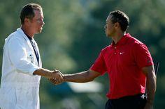 Jim MacKay (Bones) and Tiger Woods
