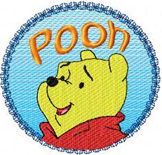 Winnie Pooh Logo free machine embroidery design