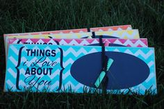 Chevron Things I love about you..... $10.00, via Etsy.