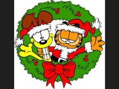 Garfield and Odie on Christmas
