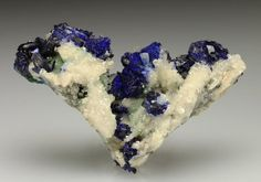 AZURITE on CERUSSITE after ANGLESITE