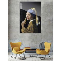 Girl with a Pearl Earring by the famous Dutch painter Vermeer with a funny surpise from Arty Shock! wonenmetlef.nl