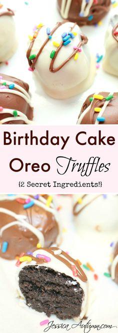 Birthday Cake Oreo Truffles {2 Secret Ingredients}. Most Oreo balls ...