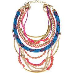 Assad Mounser Shiprock gold-plated multi-chain necklace via Polyvore