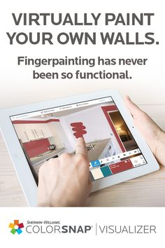Virtually see Sherwin-Williams paint colors on your own walls with ColorSnap® Visualizer for iPad. ColorSnap Visualizer lets you try colors on walls before you commit, so you can make your best color decisions yet. Then, all you have to do is pick up a brush and feed your DIY spirit.