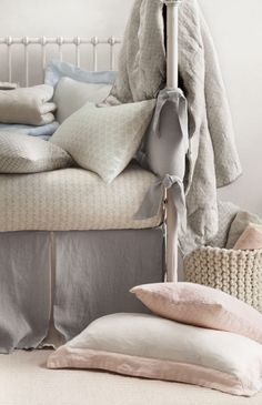 washed organic linen nursery bedding. a relaxed aesthetic that suits boys and girls alike. #rhbabyandchild